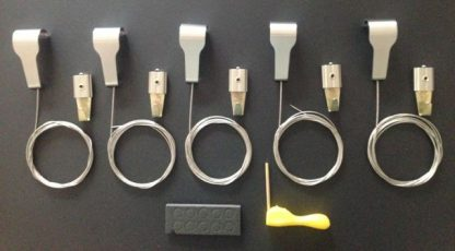 Stainless Steel Picture Rail Hooks with Standard Hooks (hangers) Bundle pack of 5