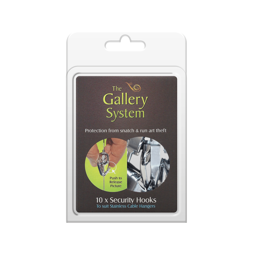 The Gallery System Push Button Security Hooks – Pack Shot