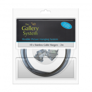 The Gallery System Stainless Steel Cable (wire) Dropper Kit 2m - Pack Shot