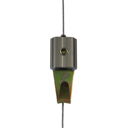 The Gallery System - Hook on Stainless Steel Cable Dropper