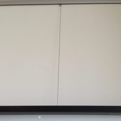 The Slimline Arte Hanging System - Stainless Steel Cable Dropper in Situ