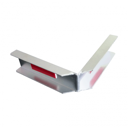 The Gallery Lighting System - Anodise Silver Internal Corner Cover - Back