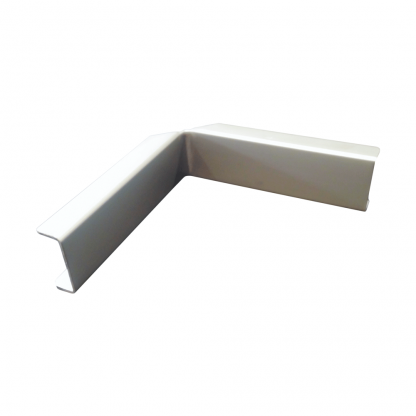 The Gallery Lighting System - Anodise Silver Internal Corner Cover - Front