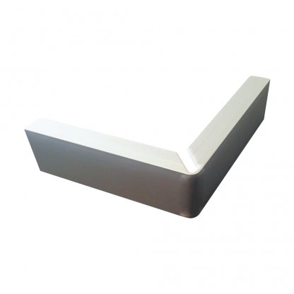 The Gallery Lighting System - Anodise Silver External Corner Cover - Front