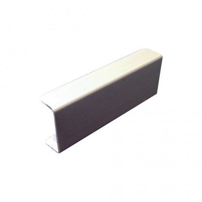 The Gallery Lighting System - Anodised Silver Straight Cover - front