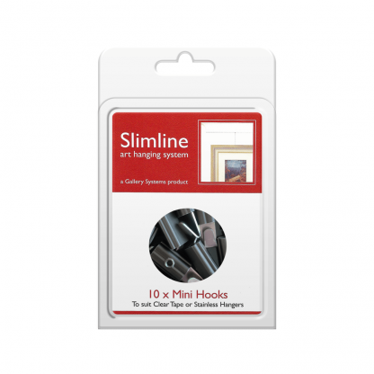 The Slimline Art Hanging System Mini Hooks - Pack Shot