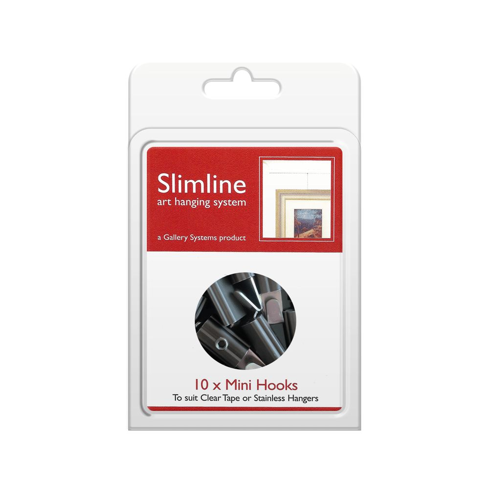 The Slimline Art Hanging System Mini Hooks – Pack Shot
