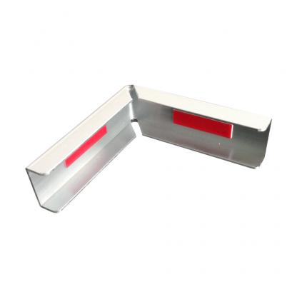 The Gallery Lighting System - White External Corner Cover - Back