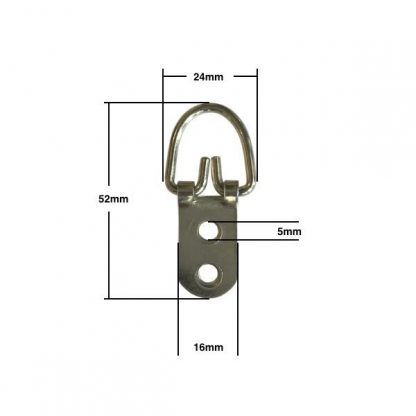 Wide Strap Hanger 2 Hole with measurements