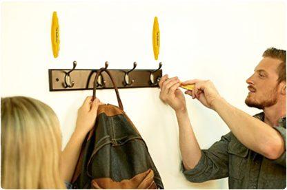 StudBuddy installing coat hooks
