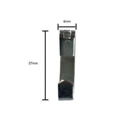 Economy picture hook zinc plated - front profile with measurements