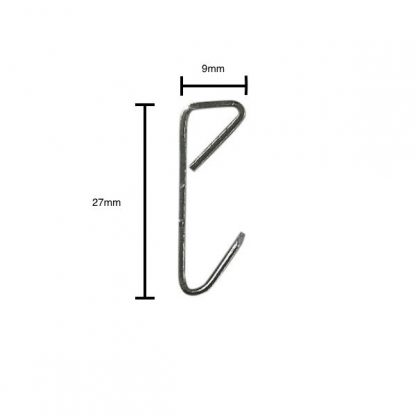 Economy picture hook zinc plated - side profile with measurements