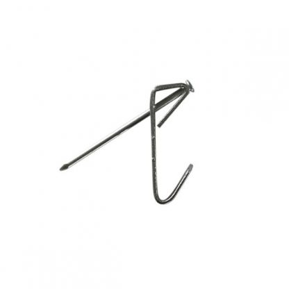 Economy picture hook zinc plated - side profile with pin